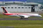 Chofu Spotter Ariaさんが、名古屋飛行場で撮影した三菱航空機 MRJ90STDの航空フォト(飛行機 写真・画像)