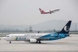 xingyeさんが、煙台蓬莱国際空港で撮影した山東航空 737-85Nの航空フォト(飛行機 写真・画像)