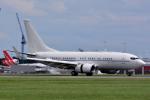 だいせんさんが、ロンドン・スタンステッド空港で撮影したアメリカ空軍 C-40B BBJ (737-7CP)の航空フォト(写真)