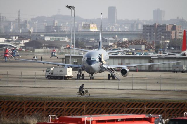 Koenig117さんが、名古屋飛行場で撮影したスカイ・アヴィエーション 737-2W8/Advの航空フォト(飛行機 写真・画像)