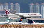 香港国際空港 - Hong Kong International Airport [HKG/VHHH]で撮影されたカタール航空 - Qatar Airways [QR/QTR]の航空機写真