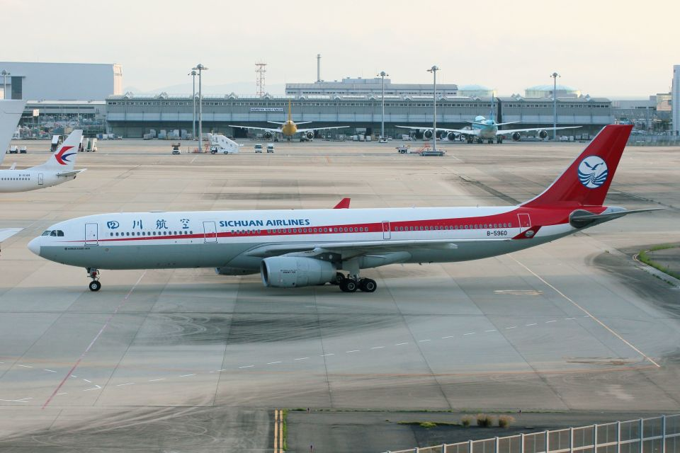 山河 彩さんの四川航空 Airbus A330-300 (B-5960) 航空フォト