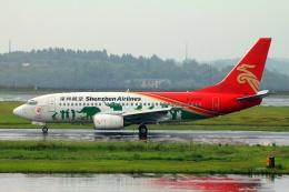 ぽっぽさんが、長沙黄花国際空港で撮影した深圳航空 737-77Lの航空フォト(飛行機 写真・画像)