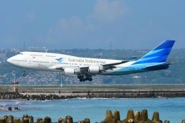 RUSSIANSKIさんが、デンパサール国際空港で撮影したガルーダ・インドネシア航空 747-4U3の航空フォト(写真)