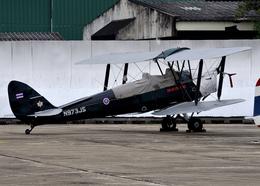 RA-86141さんが、チェンマイ国際空港で撮影したタイ王国空軍 DH.82 Tiger Mothの航空フォト(飛行機 写真・画像)