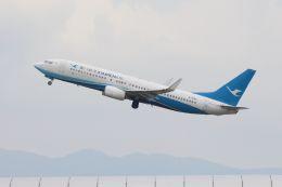 山河 彩さんが、関西国際空港で撮影した厦門航空 737-85Cの航空フォト(飛行機 写真・画像)