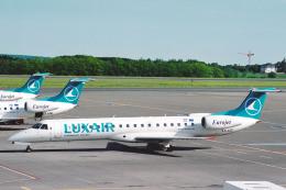 菊池 正人さんが、ルクセンブルグ・フィンデル空港で撮影したルクスエア ERJ-145LUの航空フォト(飛行機 写真・画像)