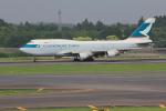 Automarkさんが、成田国際空港で撮影したキャセイパシフィック航空 747-412(BCF)の航空フォト(写真)
