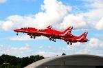 まいけるさんが、ファンボロー空港で撮影したイギリス空軍 BAe Hawk T1の航空フォト(写真)