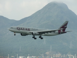 スカイマンタさんが、香港国際空港で撮影したカタール航空 A330-202の航空フォト(飛行機 写真・画像)