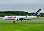 じーく。さんが、新千歳空港で撮影したスカイマーク 737-82Yの航空フォト(飛行機 写真・画像)