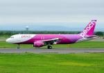 じーく。さんが、新千歳空港で撮影したピーチ A320-214の航空フォト(飛行機 写真・画像)