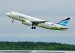 じーく。さんが、新千歳空港で撮影したエアプサン A320-232の航空フォト(飛行機 写真・画像)