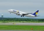 じーく。さんが、新千歳空港で撮影したスカイマーク 737-8FZの航空フォト(飛行機 写真・画像)