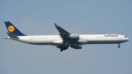 航空フォト:D-AIHS ルフトハンザドイツ航空 A340-600