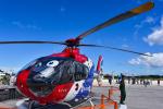 パンダさんが、館山航空基地で撮影した毎日新聞社 EC135T1の航空フォト(飛行機 写真・画像)