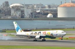 どっかの人さんが、羽田空港で撮影した全日空 767-381の航空フォト(飛行機 写真・画像)