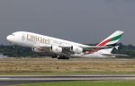 voyagerさんが、デュッセルドルフ国際空港で撮影したエミレーツ航空 A380-861の航空フォト(写真)