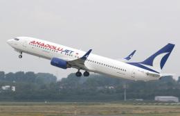 voyagerさんが、デュッセルドルフ国際空港で撮影したアナドルジェット 737-8F2の航空フォト(写真)