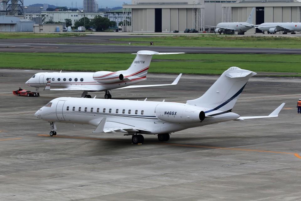 T.Sazenさんのアメリカ企業 Bombardier BD-700 Global Express/5000/6000 (n46gx) 航空フォト