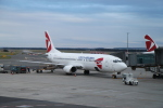 maccha_chaさんが、ヴァーツラフ・ハヴェル・プラハ国際空港で撮影したチェコ航空 737-49Rの航空フォト(飛行機 写真・画像)