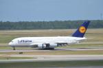 takemasaさんが、ジョージ・ブッシュ・インターコンチネンタル空港で撮影したルフトハンザドイツ航空 A380-841の航空フォト(写真)