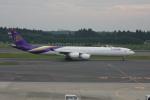クルーズさんが、成田国際空港で撮影したタイ国際航空 A340-642の航空フォト(写真)