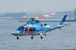 蒼い鳩さんが、横浜ヘリポートで撮影した神奈川県警察 AW109SPの航空フォト(飛行機 写真・画像)