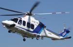 voyagerさんが、東京ヘリポートで撮影したオールニッポンヘリコプター AW139の航空フォト(写真)