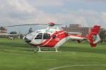 ショウさんが、クロスランドおやべ で撮影した北國新聞社 EC135T2の航空フォト(写真)
