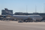セブンさんが、アムステルダム・スキポール国際空港で撮影したエル・アル航空 747-412の航空フォト(飛行機 写真・画像)