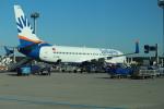 セブンさんが、フランクフルト国際空港で撮影したサンエクスプレス 737-8HCの航空フォト(飛行機 写真・画像)