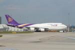 セブンさんが、ミュンヘン・フランツヨーゼフシュトラウス空港で撮影したタイ国際航空 747-4D7の航空フォト(飛行機 写真・画像)