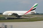 セブンさんが、ミュンヘン・フランツヨーゼフシュトラウス空港で撮影したエミレーツ航空 A380-861の航空フォト(飛行機 写真・画像)