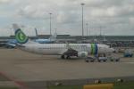 セブンさんが、アムステルダム・スキポール国際空港で撮影したトランサヴィア 737-8K2の航空フォト(飛行機 写真・画像)