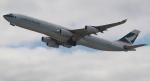 セブンさんが、関西国際空港で撮影したキャセイパシフィック航空 A340-313Xの航空フォト(飛行機 写真・画像)