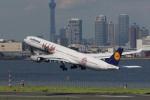 肉食獣さんが、羽田空港で撮影したルフトハンザドイツ航空 A340-642の航空フォト(写真)