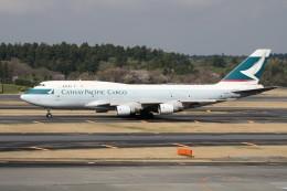 もぐ3さんが、成田国際空港で撮影したキャセイパシフィック航空 747-412(BCF)の航空フォト(飛行機 写真・画像)
