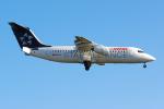 PASSENGERさんが、ロンドン・シティ空港で撮影したスイスインターナショナルエアラインズ Avro 146-RJ100の航空フォト(写真)
