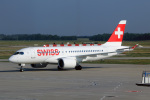 TRAVAIRさんが、フェレンツリスト国際空港で撮影したスイスインターナショナルエアラインズ BD-500-1A10 CSeries CS100の航空フォト(写真)