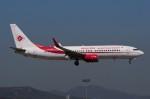 ぼんやりしまちゃんさんが、バルセロナ空港で撮影したアルジェリア航空 737-8D6の航空フォト(写真)