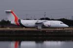 ぼんやりしまちゃんさんが、ロンドン・シティ空港で撮影したイオタ・アヴィエーション Avro 146-RJ85の航空フォト(写真)