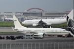 B747‐400さんが、羽田空港で撮影したサウジアラビア王室空軍 737-8DP BBJ2の航空フォト(飛行機 写真・画像)