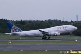 遠森一郎さんが、成田国際空港で撮影したユナイテッド航空 747-422の航空フォト(飛行機 写真・画像)