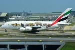 RUSSIANSKIさんが、クアラルンプール国際空港で撮影したエミレーツ航空 A380-861の航空フォト(飛行機 写真・画像)
