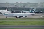 トオルさんが、羽田空港で撮影したキャセイパシフィック航空 747-467の航空フォト(写真)