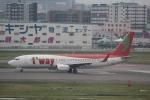 Shibataさんが、福岡空港で撮影したティーウェイ航空 737-8Q8の航空フォト(写真)