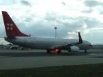 金魚さんが、フランクフルト国際空港で撮影したプライベートエア 737-8Q8の航空フォト(飛行機 写真・画像)