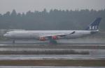 セブンさんが、成田国際空港で撮影したスカンジナビア航空 A340-313Xの航空フォト(写真)