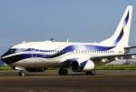 あしゅーさんが、羽田空港で撮影したインターナショナル・ジェットクラブ 737-7GV BBJの航空フォト(飛行機 写真・画像)